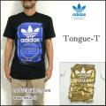 adidas/アディダス/Tシャツ/メンズ/TONGUE T/originals/オリジナルス/ロゴ プリント/三つ葉/半袖/ティーシャツ