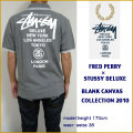【FRED PERRY×STUSSY DELUXE】フレッドペリー/ステューシー【SOLID PIQUE POLO/GREY】ポロシャツ  BLANK CANVAS