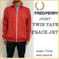 【FRED PERRY】フレッドペリー【J5327  Twin Tape Track Jacket/red】ツインテープ トラック ジャケット/ジャージ