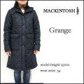 マッキントッシュ/レディース コート/Mackintosh/GRANGE/(QA02)ネイビー/グランジ 裏ボア キルティング フード コート