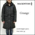 マッキントッシュ/レディース コート/Mackintosh/GRANGE/ブラック/グランジ 裏ボア キルティング フード コート