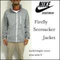 ナイキ/NIKE/ジャケット/FireFly Seersucker Jacket/ファイアーフライ シアサッカー ジップパーカ/466655-010
