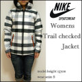 【NIKE SPORTSWEAR】ナイキ【Womens Trail checked  Jacket/ブラック】レディース チェック ネルシャツ ジャケット/パーカ/394703