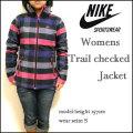 【NIKE SPORTSWEAR】ナイキ【Womens Trail checked  Jacket/チェリー】レディース チェック ネルシャツ ジャケット/パーカ/394703