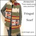 Pendleton /THE Portland Collection/ペンドルトン/ポートランド コレクション/マルチ/ウール フリンジ マフラー/ストール