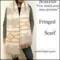 Pendleton /THE Portland Collection/ペンドルトン/ポートランド コレクション/サンド/ウール フリンジ マフラー/ストール