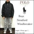 POLO RALPH LAUREN/ラルフローレン/ジャケット/パーカー/ボーイズ/ウィンドブレーカー/ブラック/BOYS/Stratford Windbreaker