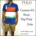 ラルフローレン/POLO Ralph Lauren/ポロシャツ/メンズ/カスタムフィット/CUSTOM-FIT BUOY BIG PONY POLO SHIRT/ネイビー/ビッグポニー