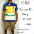 ラルフローレン/POLO Ralph Lauren/ポロシャツ/メンズ/カスタムフィット/CUSTOM-FIT BUOY BIG PONY POLO SHIRT/イエロー/ビッグポニー