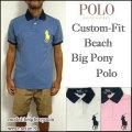 ラルフローレン/POLO Ralph Lauren/ポロシャツ/メンズ/カスタムフィット/CUSTOM-FIT BEACH BIG PONY POLO SHIRT/ビッグポニーポロ/国旗