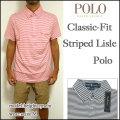 ラルフローレン/POLO Ralph Lauren/ポロシャツ/メンズ/クラシックフィット/Classic-Fit Striped Lisle Polo/ストライプ/ビズポロ