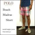 セール!Polo Ralph Lauren/ラルフローレン/ハーフパンツ/Beach Madras Short Pant/ピンク/マドラス ショートパンツ/ショーツ