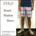 セール!Polo Ralph Lauren/ポロ ラルフローレン/ハーフパンツ/Beach Madras Short Pant/ブルー/マドラス ショートパンツ/ショーツ
