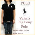 【Ralph Lauren GOLF】ラルフローレン ゴルフ【 Valeria  Big Pony Polo/BLACK 】レディース ビッグポニー ポロシャツ