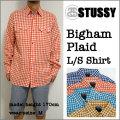 【STUSSY】ステューシー【#11577 BIGHAM PLAID L/S Shirt】ギンガムチェック 長袖シャツ