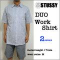 【STUSSY】ステューシー【#11583 DUO WORK S/S Shirt】ストライプ 半袖 ワークシャツ