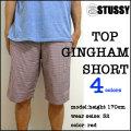 【STUSSY】ステューシー【#12385 TOP GINGHAM SHORT PANT】ギンガムチェック ショートパンツ/ハーフパンツ