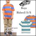 VANS/バンズ/キッズ/Tシャツ/BOYS BIDWELL TEE/ジュニア/ティーシャツ/ボーダー/半袖