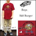 VANS/バンズ/キッズ/Tシャツ/子供/BOYS SK8 BURGER TEE/パープル/ジュニア/ティーシャツ/半袖