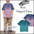 VANS/バンズ/キッズ/Tシャツ/子供/BOYS DIPPED PALM ISLAND TEE/ジュニア/ティーシャツ/半袖【YDKG-m】