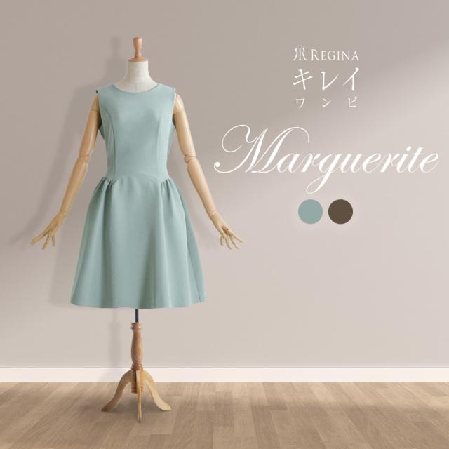 【キレイ ワンピ マーガレット】45-k20 color:グリーン,ブラウン size:38(Sサイズ)7号,40(Mサイズ)9号,42(Lサイズ)11号