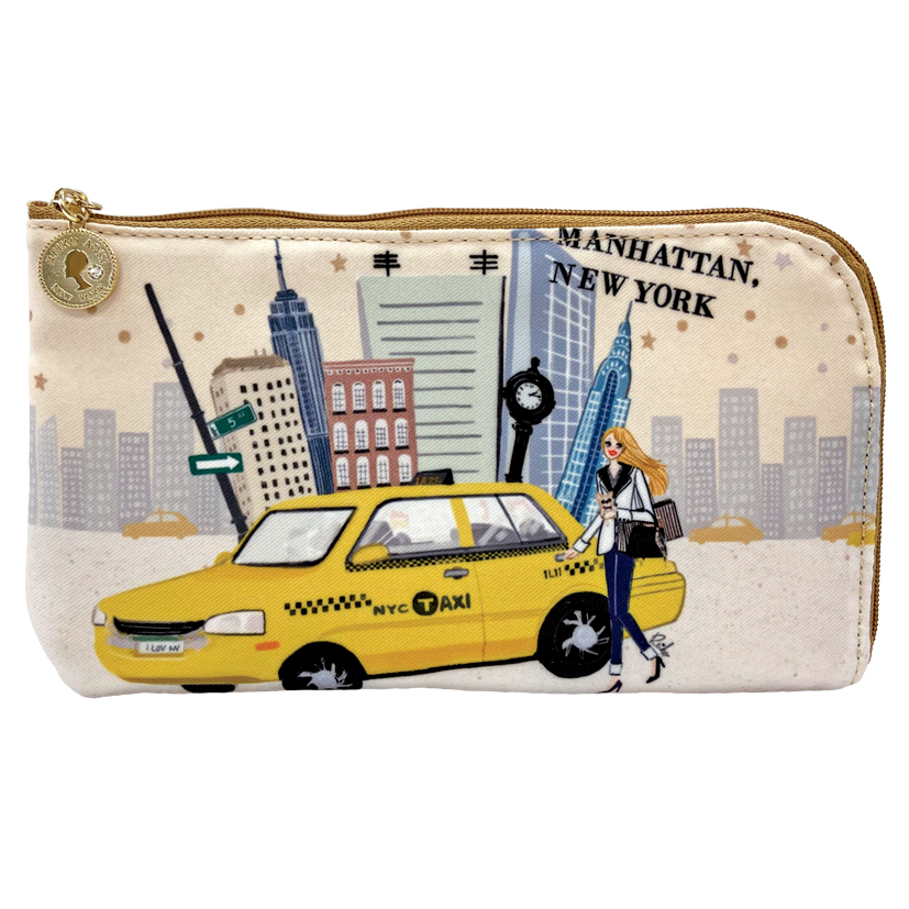 Manhattan Girl L字ファスナーポーチ(8704-165)