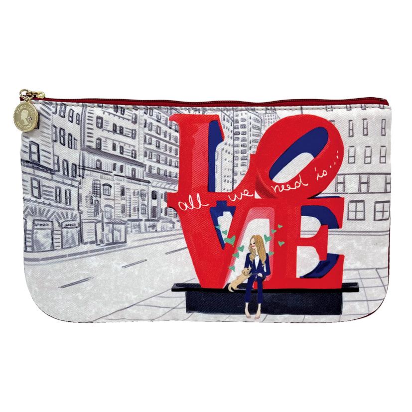 LOVE, NYC マスクポーチ