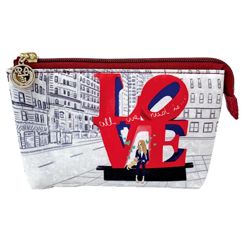 LOVE, NYC 3ポケットポーチ