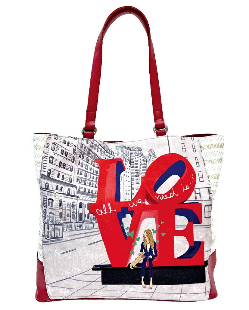 LOVE, NYC パナマトート