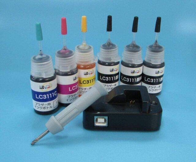 ブラザーLC3111詰め替え4色+リセッターセット
