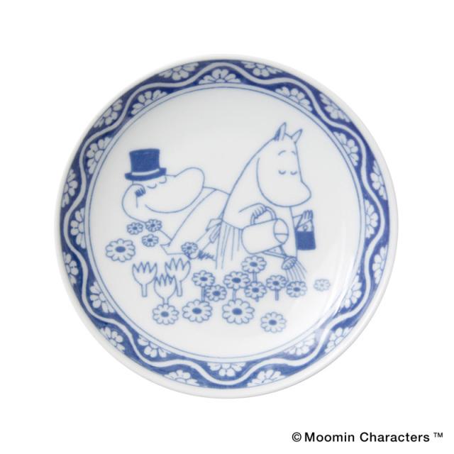 Moomin SOMETSUKE / ムーミン 染付 手塩皿 / Pappa&Mamma