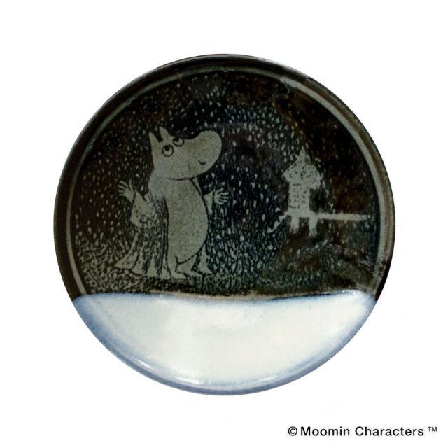 MASHIKO POTTERY-GLAZE- / Gosuムーミン益子焼平皿 / 呉須