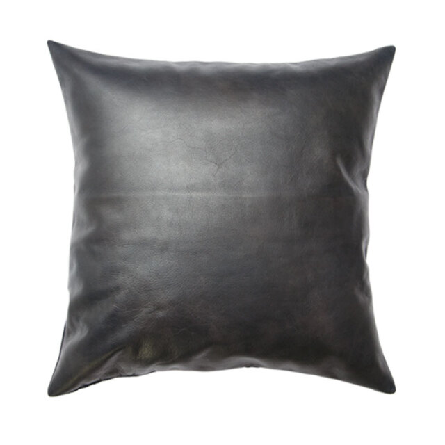 LEATHER CUSHION COVER / Black