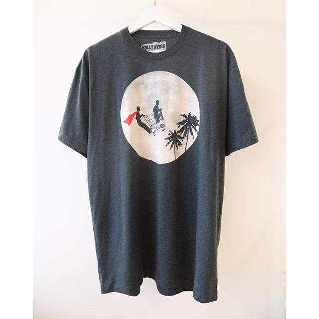 moon print Tシャツ
