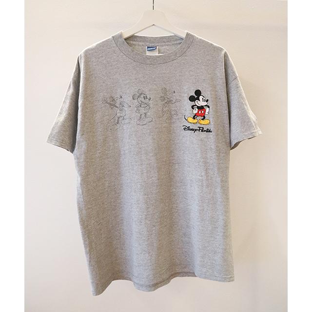 Mickey print クルーネックTシャツ