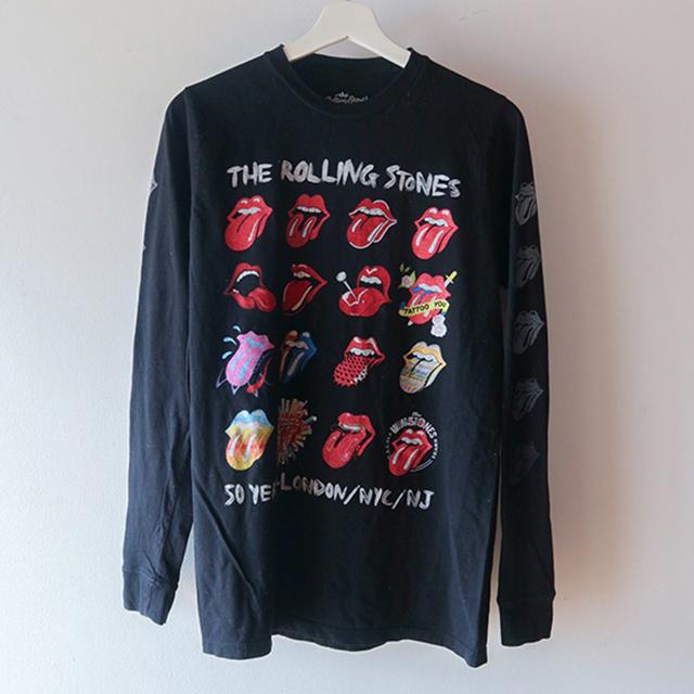 THE ROLLING STONES ロングTシャツ 黒
