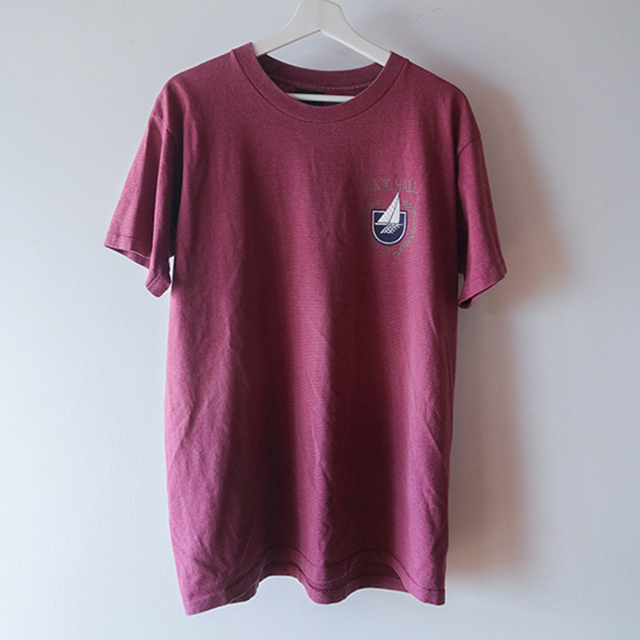 ROCK HALL Tシャツ 赤紫