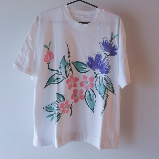 Flower Tシャツ 白