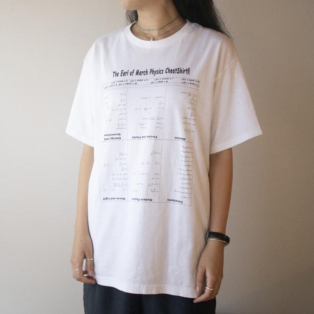数式プリント 白Tシャツ