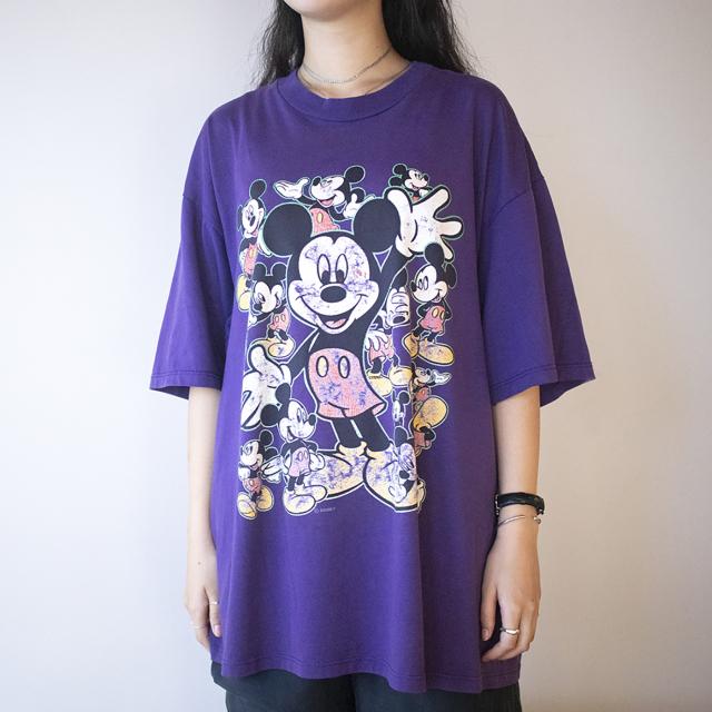 ミッキー紫Tシャツ