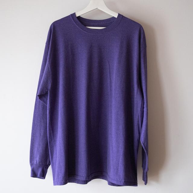 無地紫ロングT