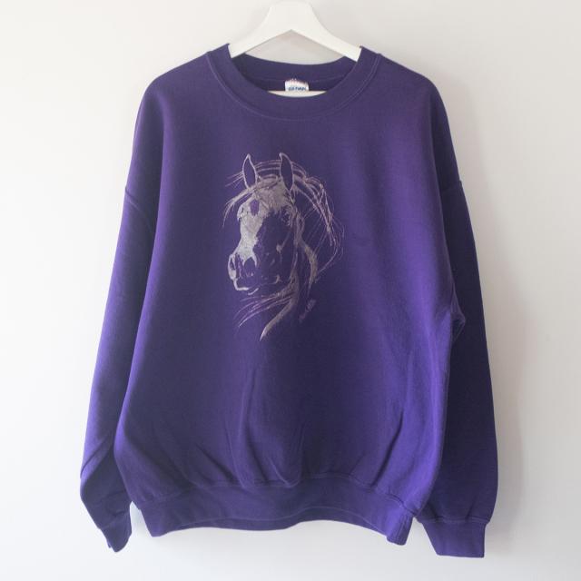 馬 スウェット 紫