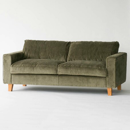 JETTY FEATHER SOFA 2P corduroy(ジェティ フェザーソファ 2人掛 カーキ)
