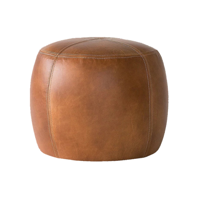 OAKS LEATHER STOOL (smooth)