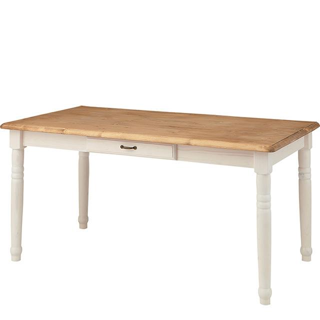ろくろ脚ダイニングテーブル(ホワイト)