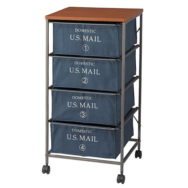 USメールチェスト 4段