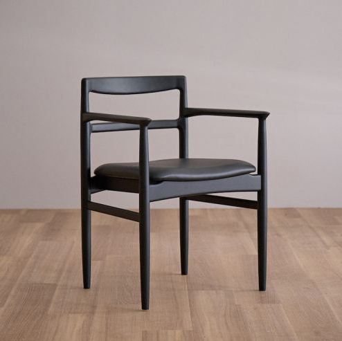 ROUNE arm chair /ラウン アームチェア (ブラック)