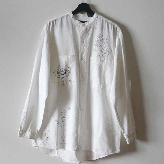 uno yoshihiko ART ボタンダウンシャツ