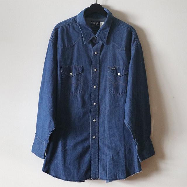 uno yoshihiko ART バックペイントダンガリーシャツ