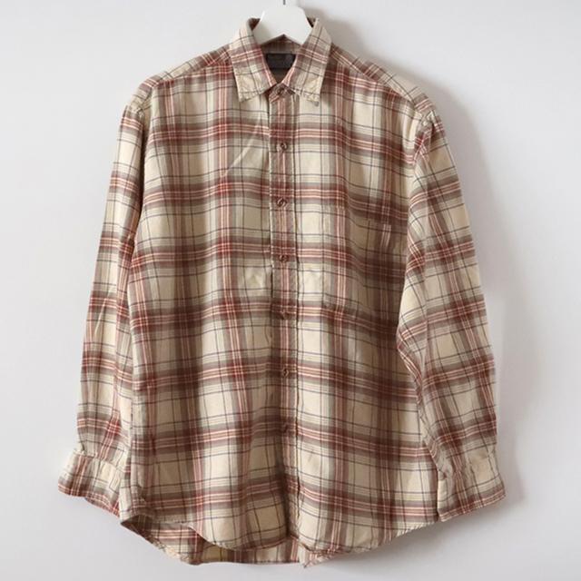 Viyellaチェックシャツ